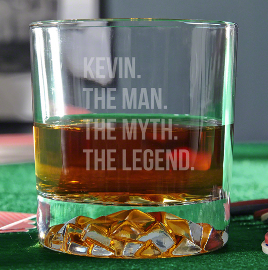 The Man The Myth The Legend Glass (Personalized)