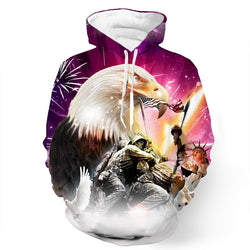 American Victorious Eagle 3D Hoodie
