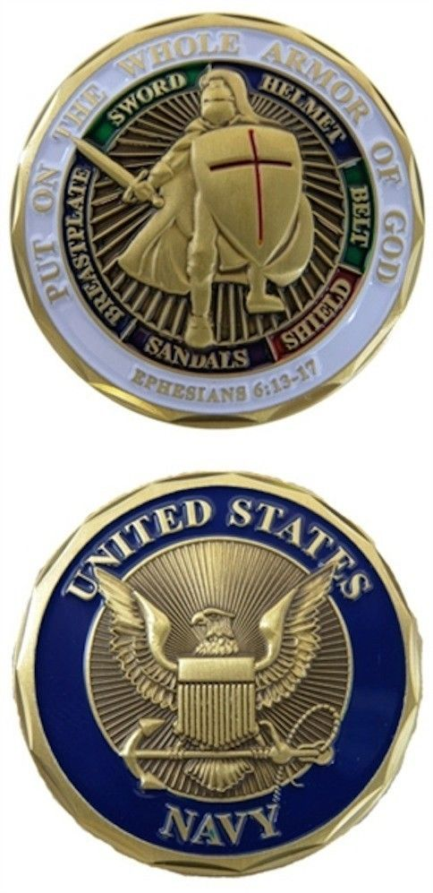 US Navy - Put On the Whole Armor of God Challenge Coin