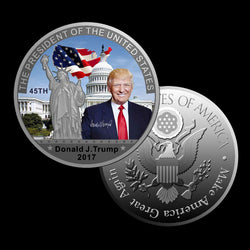 Silver Coin American 45th Donald Trump Coin