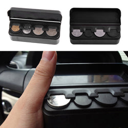 Black Plastics Car Coin Organizer