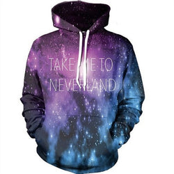 Take Me To Neverland Galaxy 3D Hoodie
