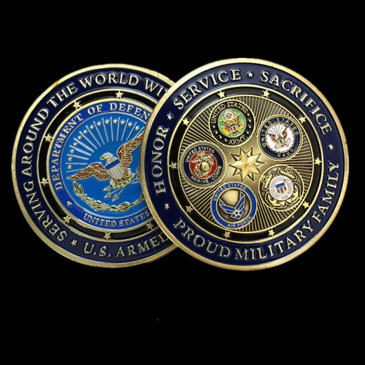 5pcs military crafts challenge coins