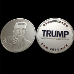10 PCS Trump Coin 24k Silver Plated Coin