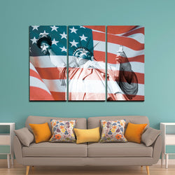3 Panel statue of liberty Canvas
