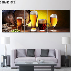 3 Pieces Beer Pivo Canvas