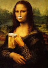 Monalisa Drinking Beer wall picture