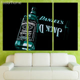 3 Panels Jack Daniel's Whiskey Canvas