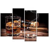 4 piece whiskey and tobacco Canvas