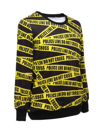 Police Yellow warning line Sweatshirt