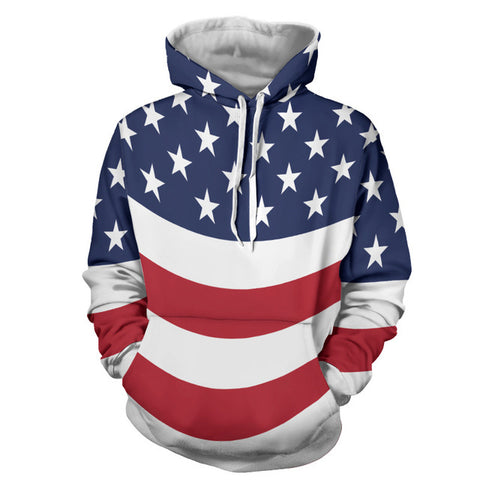 ِAll over printed modern american flag Hoodie