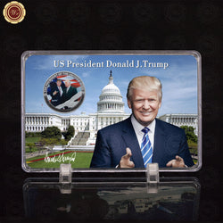 Trump Coin with Liberty Showing Stand