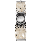 High Jewelry watch (Small model 18K white gold diamonds pearls onyx emeralds)