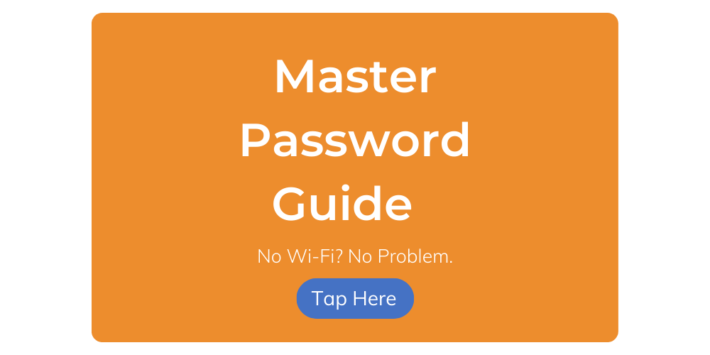 master password guide
