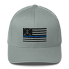 Blue Line NF Flag - Flexfit Structured Twill Cap