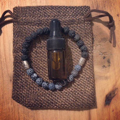 Lava Diffuser Bracelet with Oil and Gift Bag (6mm)