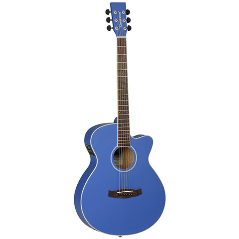 TANGLEWOOD BLUE ELECTRO ACOUSTIC GUITAR MODEL BDT SFCE DBL SUPER FOLK