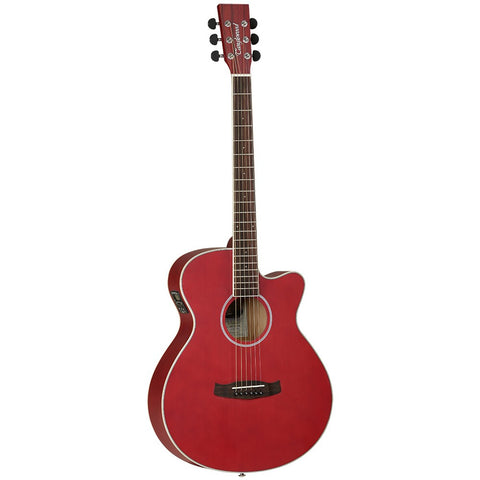 TANGLEWOOD RED ELECTRO ACOUSTIC GUITAR MODEL DBT SFCE RD SUPER FOLK