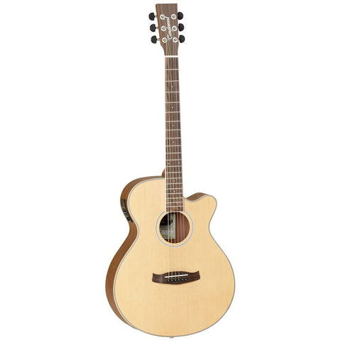 TANGLEWOOD NATURAL WOOD SUPER FOLK ELECTRO ACOUSTIC GUITAR MODEL DBT SFCE OV