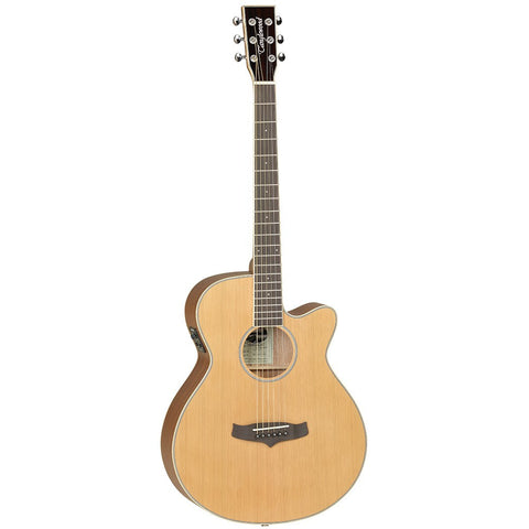 TANGLEWOOD ELECTRO ACOUSTIC GUITAR MODEL TSF CE N SUPER FOLK.