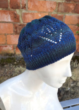 Lace knit beanie, festival cloche type hat