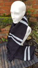 black and grey harry potter scarf
