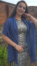 denim blue prom shawl