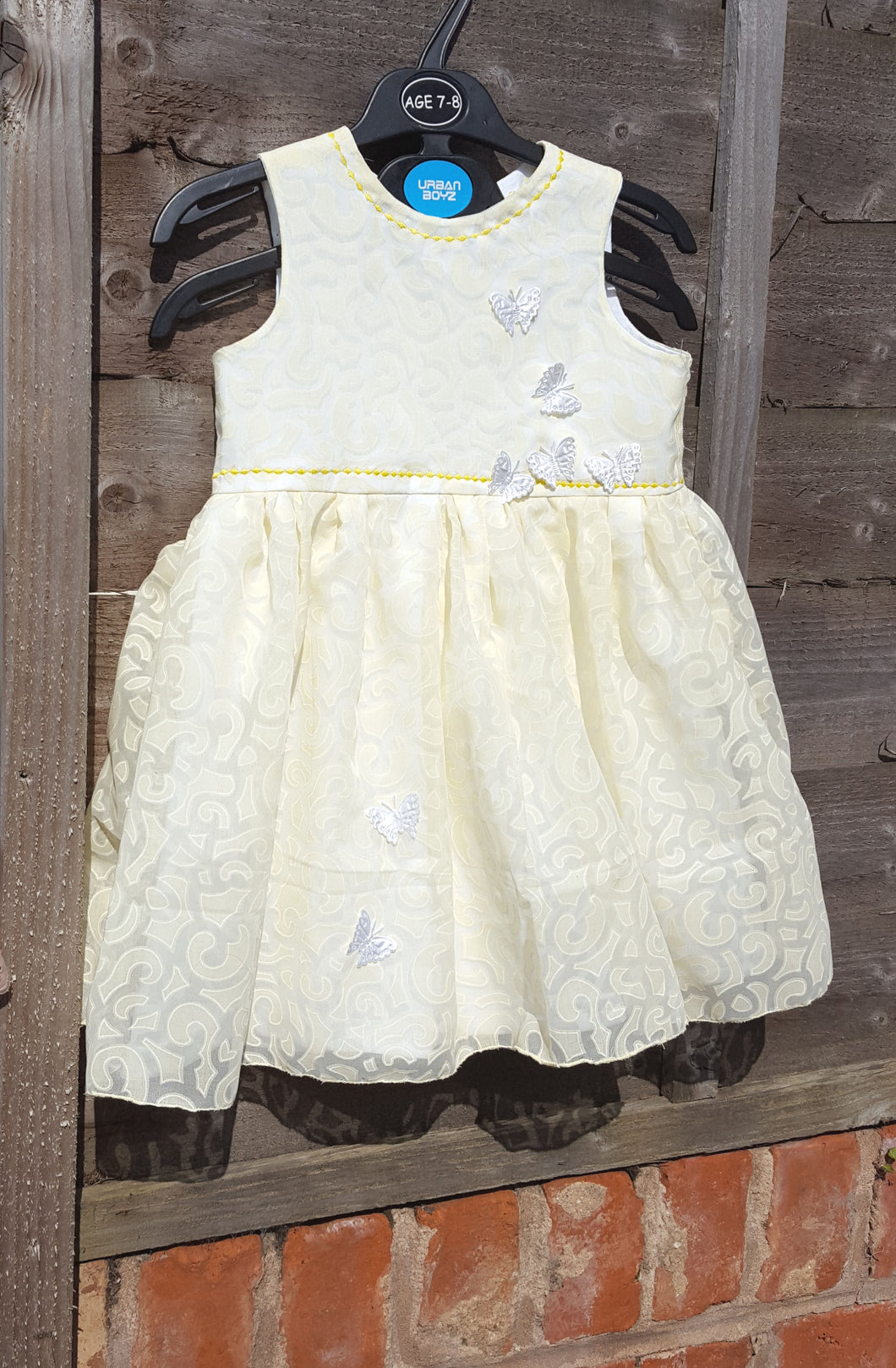 lemon voile dress