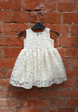 silver lurex and lace baby dress
