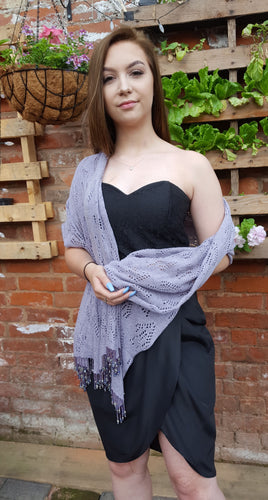 cotton beaded pashmina