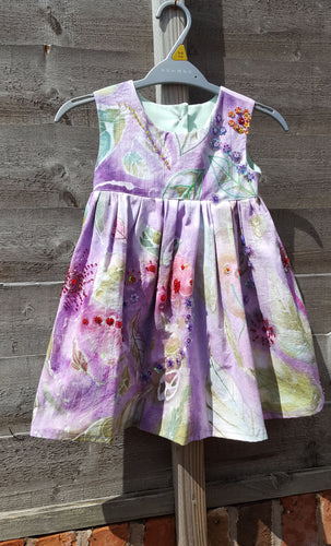 hand painted and dyed dress