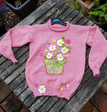 appliqued cotton jumper