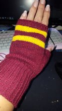 gryffindor fingerless gloves