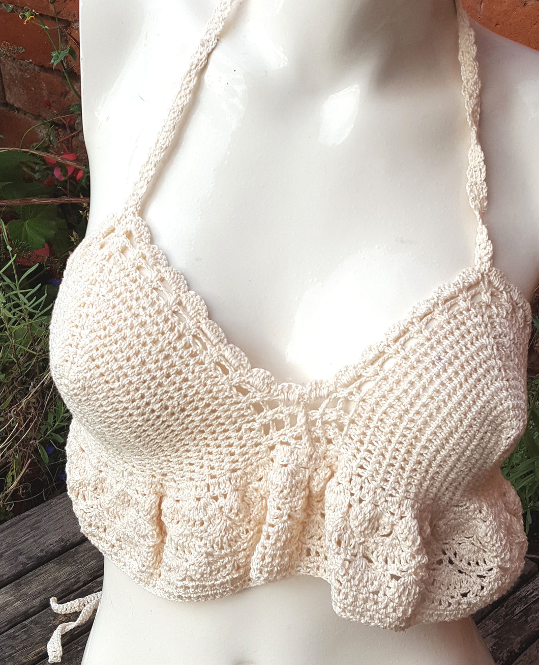 frilled bralette top