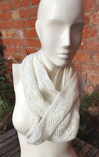winter white infinity scarf