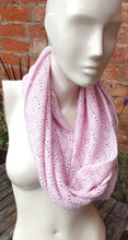 soft pink mobius scarf
