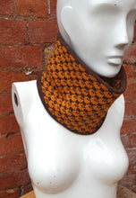 Unisex bikers cowl, neck warmer or ski cowl double thickness totally reversable