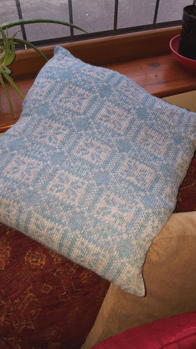 Nordic boxed star fair isle cushion
