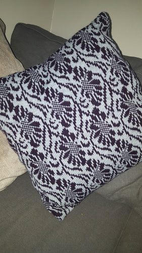 floral tapestry fair isle cushion
