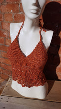 halter neck crochet top