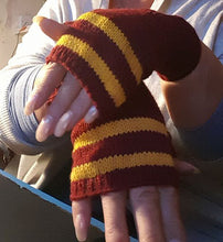 arm warmers in gryffindor colours