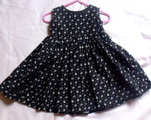 Dolly print 100% cotton baby girl dress,  to fit a 3 month old