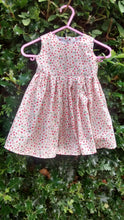 100% cotton strawberry print, baby girls, handmade dress, age approx 3 months
