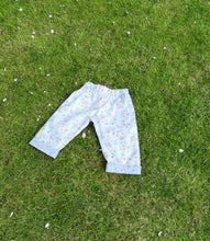 "Boho short trousers, summer pants, ""Soft meadow"" Capri pants childs age 3-4,"