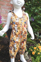 "Childs dungas, play suit, ""Teddy Bear's Picnic""summer fun festival feeling age 12 to 18 months"