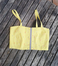 retro yellow fabric