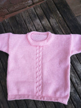 handmade cable front sweater