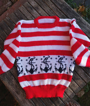 sailor stripes and anchors