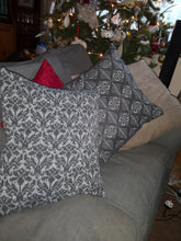 stacked hand made cushions