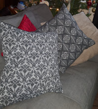 grey on grey cushion cover
